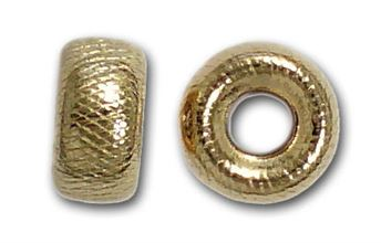 4mm Gold Filled Precision Cut Roundel Beads 14kt. (Satin Web)