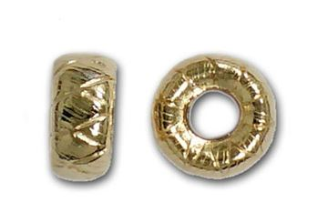 4mm Gold Filled Precision Cut Roundel Beads 14kt. (Cross Cut)
