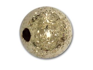 6mm - Gold Filled Glitter Beads  (.060 hole)