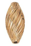 18x10mm Gold Filled Large Oval Corrugated Twist Beads 14kgf.