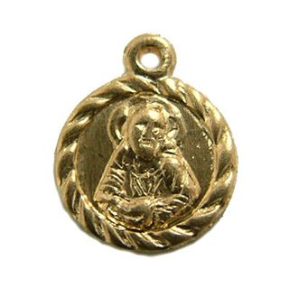 8.5mm Gold Filled Round Religious Medal 14/20kt.