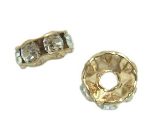 6mm Gold Filled Crystal Roundels 14/20kt.