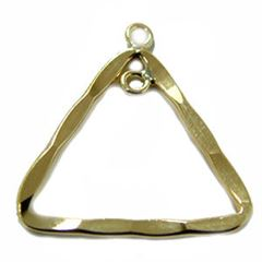 18mm Gold Filled Hammered Triangle Component