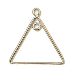 17mm Gold Filled Plain Triangle Component