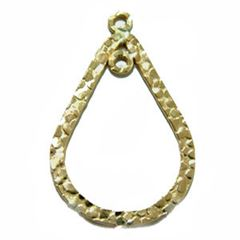 22x14mm Gold Filled Textured Teardrop Component