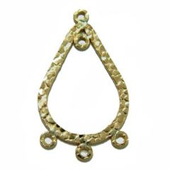36x22mm Gold Filled Textured Teardrop Component