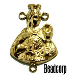 Gold Filled Rosary Center Charm