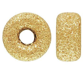 7mm Gold Filled Stardust Roundel Beads 14/20kt.