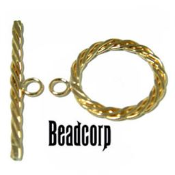14kt. Gold Filled Flat Braided Toggle Clasp 17mm