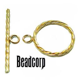14kt. Gold Filled Braided Toggle Clasp 17mm