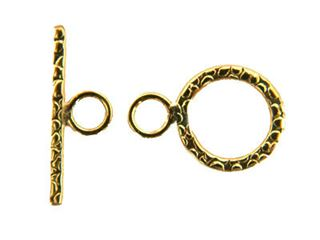 14kt. Gold Filled Textured Toggle Clasp 9mm