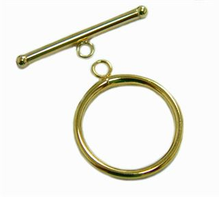 14mm Gold Filled Plain Toggle Clasp 14kt.