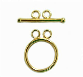 14mm Gold Filled Two-hole Toggle Clasp 14kt.