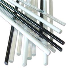 Black, White, & Clear Glass Rods 15 pcs.