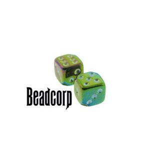 Green AB Dice Beads each