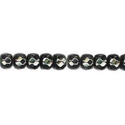 6x8mm Faceted Roundel Hematite Beads 16