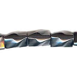 8x12mm Twist Square Hematite Beads 16