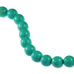 10mm Turquoise Dyed Howlite Round Beads (magnesite)