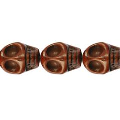 10x12mm Brown Dyed Howlite Skull Beads (magnesite)