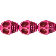 10x12mm Pink Dyed Howlite Skull Beads (magnesite)