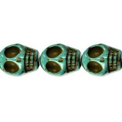 10x12mm Turquoise Dyed Howlite Skull Beads (magnesite)