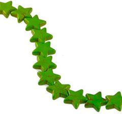 21x20mm Green Dyed Howlite Star Beads (magnesite)