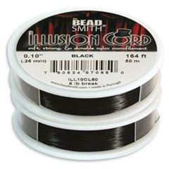BeadSmith - BLACK ILLUSION CORD (50 meters)