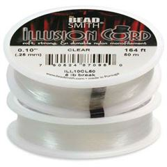BeadSmith - CLEAR ILLUSION CORD (50 meters)
