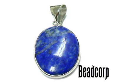 18x25mm Lapis Oval Charm