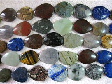 30-40mm Mixed Jasper Free Form - 16