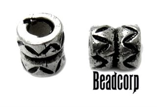 5.7x5.5mm Sterling Silver Bali Bead