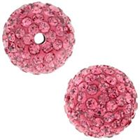 Pave Crystal Beads - Rose