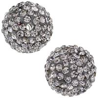 Pave Crystal Beads - Black Diamond