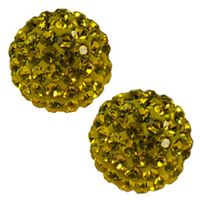 Pave Crystal Beads - Light Topaz