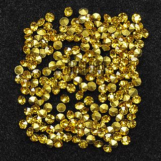 Crystal Pointed Back Chaton Rhinestones - (Light Topaz)