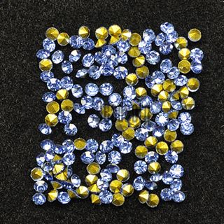 Crystal Pointed Back Chaton Rhinestones - (Light Sapphire)