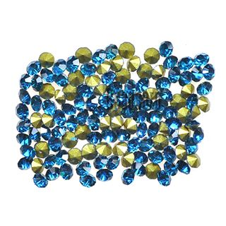 Crystal Pointed Back Chaton Rhinestones - (Blue Zircon)