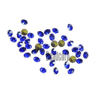 Crystal Pointed Back Chaton Rhinestones - (Sapphire)