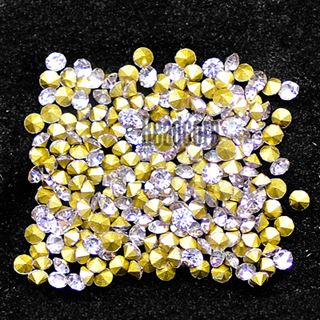 Crystal Pointed Back Chaton Rhinestones - (Violet)