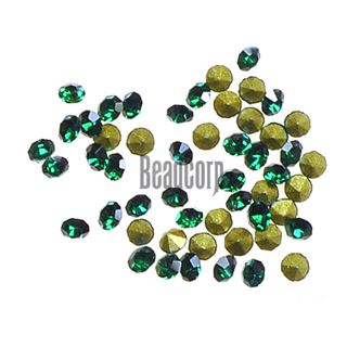 Crystal Pointed Back Chaton Rhinestones - (Emerald)