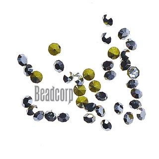 Crystal Pointed Back Chaton Rhinestones - (Jet Hematite)