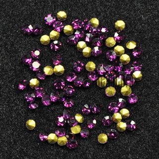Crystal Pointed Back Chaton Rhinestones - (Amethyst)