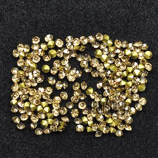 Crystal Pointed Back Chaton Rhinestones - (Light Colorado Topaz)