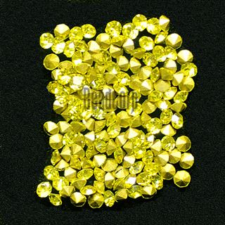 Crystal Pointed Back Chaton Rhinestones - (Citrine)