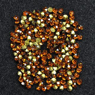 Crystal Pointed Back Chaton Rhinestones - (Topaz)