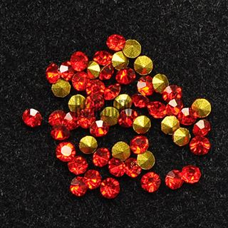 Crystal Pointed Back Chaton Rhinestones - (Light Siam)