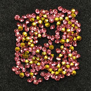 Crystal Pointed Back Chaton Rhinestones - (Light Rose)