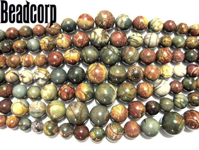 RAINBOW PICASSO JASPER GRADUATED BEADS 6-18MM