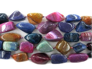 30-50mm Rainbow Snakeskin Agate Nuggets 16