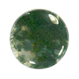 Round Moss Agate Cabochons